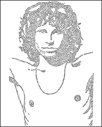 Word Portrait of Jim Morrison - David DeSouza, Illustrator