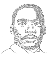 Word Portrait of Rev. Martin Luther King Jr - David DeSouza, Illustrator